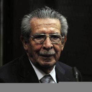 Guatemalan entinen diktaattori Efrain Rios Montt tammikuussa 2012.