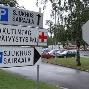 Vaasan keskussairaalan kylttejä