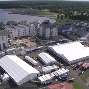 Kuvassa ilmakuva Kokkolan asuntomessualueelta