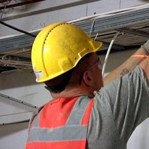 Rakentaja rakennustyömaalla