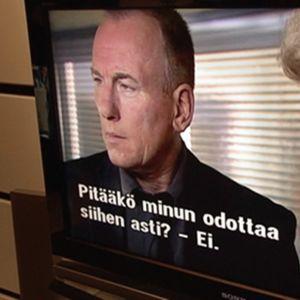 YLE:n TV1:n ohjelmaa taulutelevisiossa.