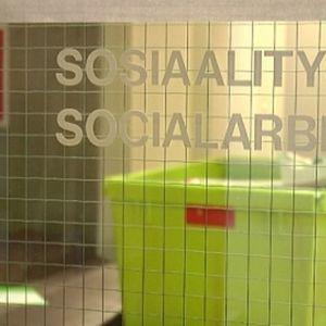 Sosiaalityö -kyltti