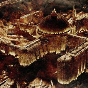Hakaristinmuotoinen rakennus elokuvassa Iron Sky.