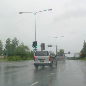75-tien liikennevaloristeys Siilnjärven keskustassa