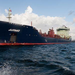 Neste Oilin öljytankkeri Jurmo merellä.