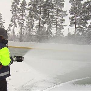 Ulkokaukaloa jäädytetään Kuopiossa