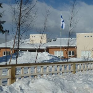 Keminmaan Kellomäen päiväkoti talvella 2013.