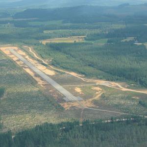 Viekin lentokenttä ilmakuvassa.