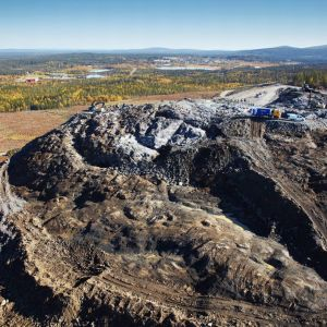 LKAB:n kaivos Svappavaarassa, Ruotsin Lapissa.