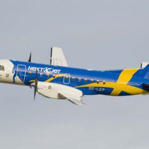 Kuvassa Nextjet lentokone.