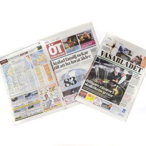 Österbottens tidning ja Vasabladet tabloid-koossa.