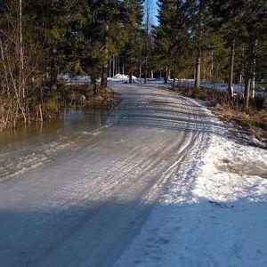 hiihtolatu 10.3 2014 Takajärvellä