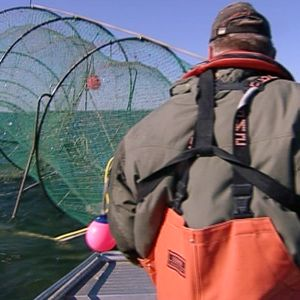Kalastaja merellä.