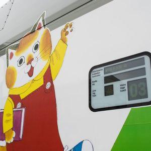 Lastenvaunu matkalla Kouvolaan