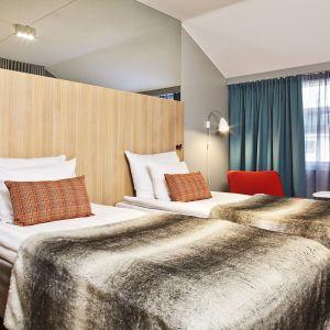 Lappi näkyy muun muassa uusien hotellihuoneiden materiaaleissa ja väreissä.
