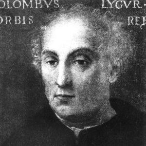 Piirustus tutkimusmatkailija Kristofer Kolumbuksesta (1451-1506).