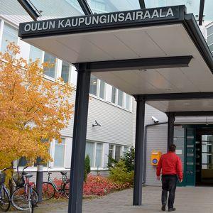 Oulun kaupunginsairaalan etuovi