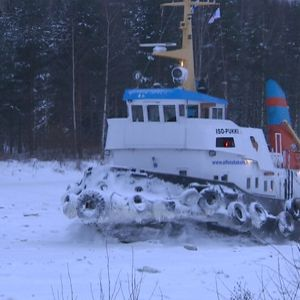 Jäänmurtaja Iso-Pukki Saimaan kanava laiva talviliikenne Lappeenranta Mustola