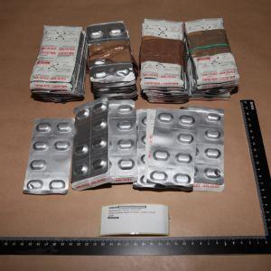 Poliisin takavarikoimia Subutex-tabletteja