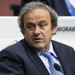 Michel Platini Fifan kokouksessa Zürichissä.