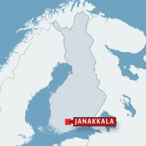 Kartta Janakkalan sijainnista.