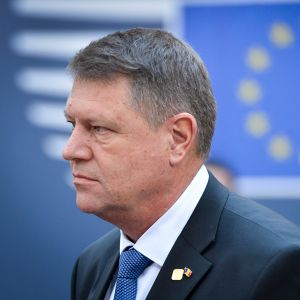 Romanian presidentti Klaus Johannis.