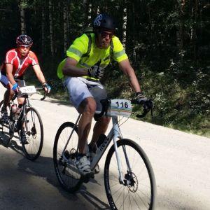 Luonteripyöräilyreitillä ajetaan paljon myös sorateillä.