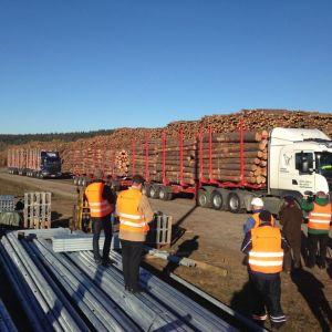 104-tonnin jätti ja 84-tonnin pikkujätti peräkkäin.