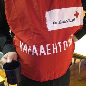 SPR:n vapaaehtoinen.