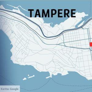 Tampereen keskustan kartta