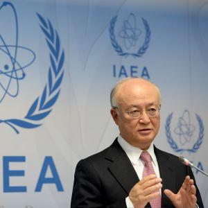 Atomienergiajärjestö IAEA:n johtaja Yukiya Amano kertoi tiistaina Wienissä päätöksestä lopettaa Iranin ydinohjelman tutkinta.