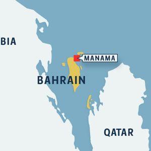 Bahrain kartta.