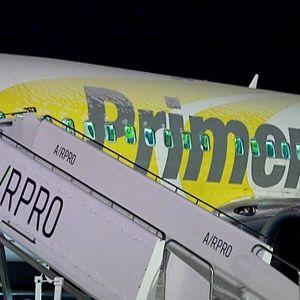 Primera yhtiön lentokone Lappeenrannan lentokentällä