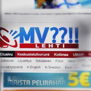 MV -nettilehden etusivu.