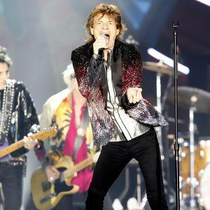 Rolling Stones esiintymässä Chilessä helmikuussa 2016.