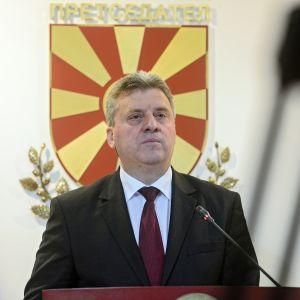 Makedonian presidentti Gjorge Ivanov.