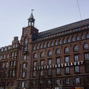 Hufvudstadsbladetin toimitusrakennus Helsingissä.