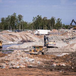 Fennovoiman ydinvoimalatyömaa Pyhäjoella.