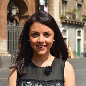 Nuori nainen. Chiara Barone johtaa AddioPizzo-järjestöä, joka kampanjoi mafiaa vastaan.