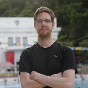 Joose Palonen Rio de Janeirossa jalkapalloseura Fluminensen treenikeskuksessa.