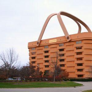 Longaberger-yhtiön entinen korin muotoinen rakennus Newarkissa, Ohiossa.