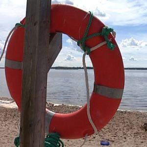 Pelastusrengas uimarannalla Vaasassa.