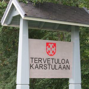 Tervetuloa Karstulaan kyltti