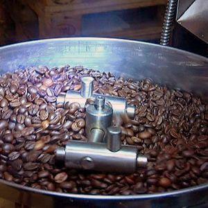 Paahdettuja kahvipapuja