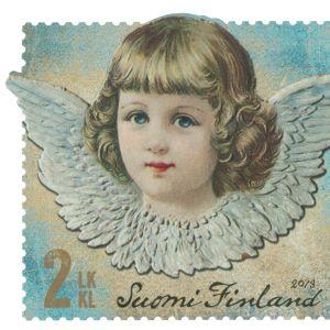 Joulupostimerkki enkeli