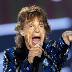 Rolling Stonesin nokkamies Mick Jagger keikalla Sao Paulossa Brasiliassa helmikuussa 2016.