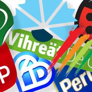 Eduskuntapuolueiden logot