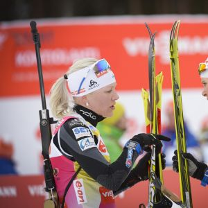 Kaisa Mäkäräinen ja Mari Laukkanen