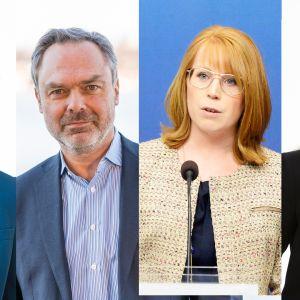 Anna Kinberg Batra, Jan Björklund, Anna Lööf ja Ebba Busch Thor.