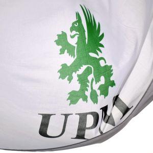 UPM:n lippu lähikuvassa.